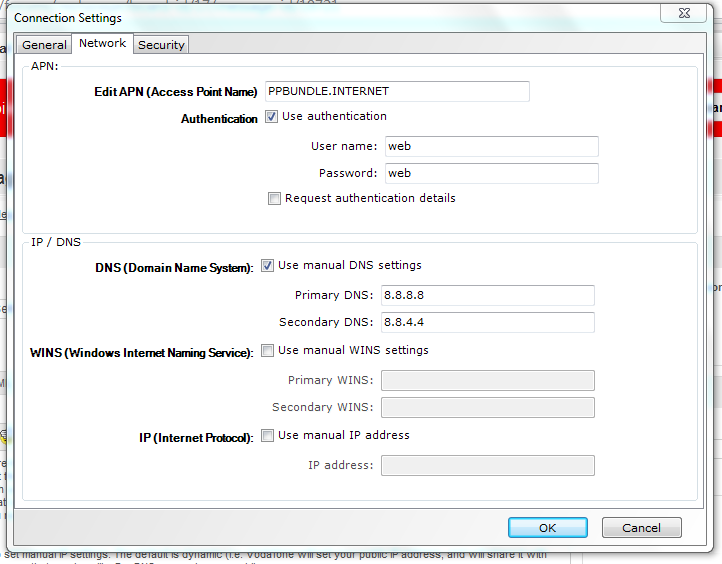 how to set dns to googles on netgear dg834g