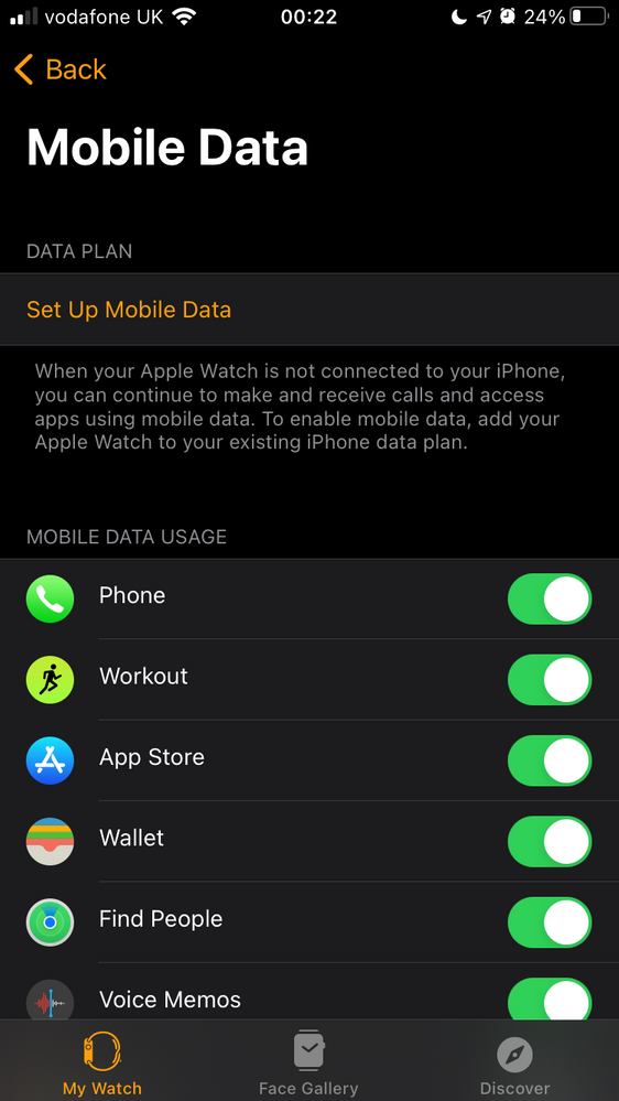 Closing the error page now displays the mobile data toggles, minus the data plan
