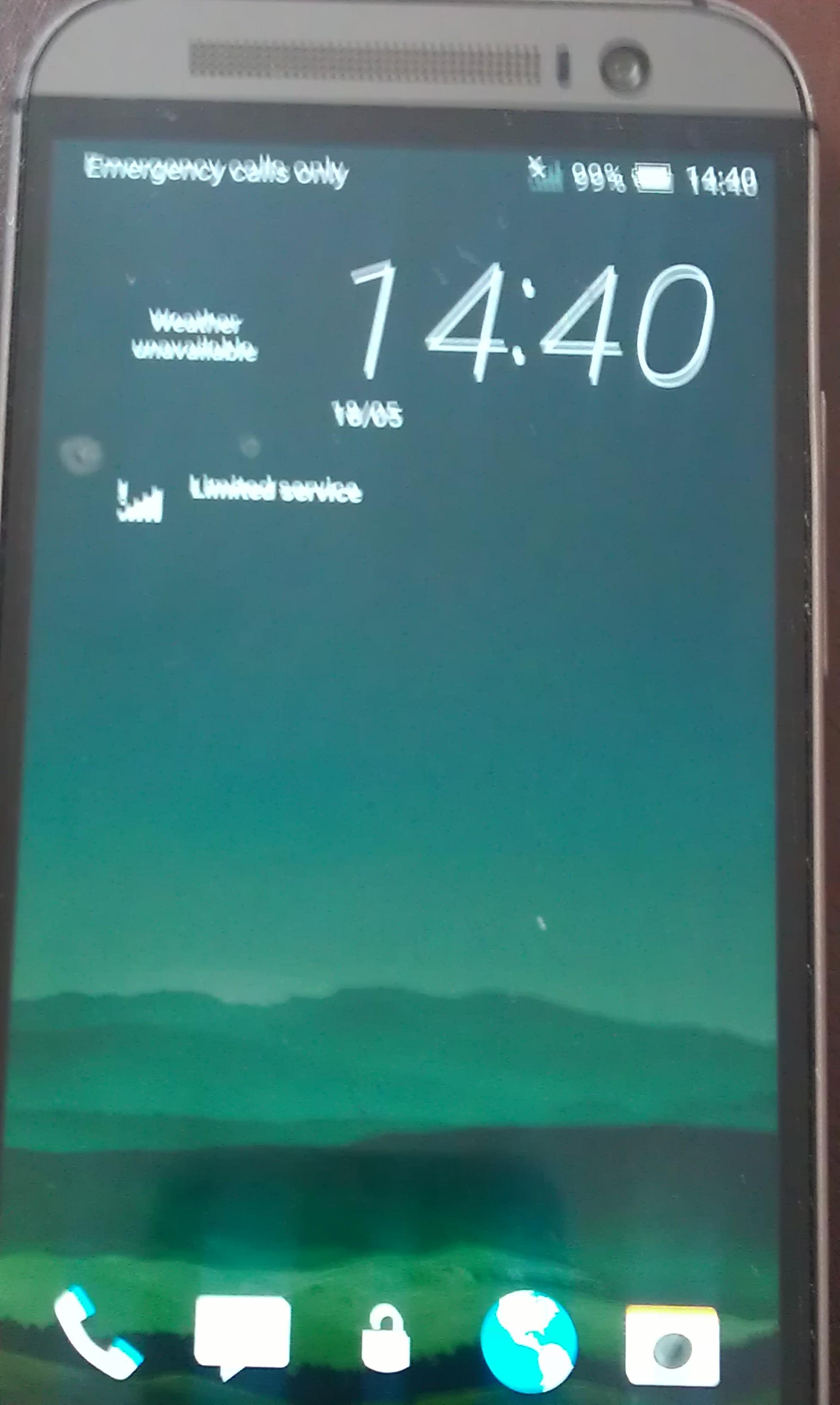 HTC One M8 No Service -