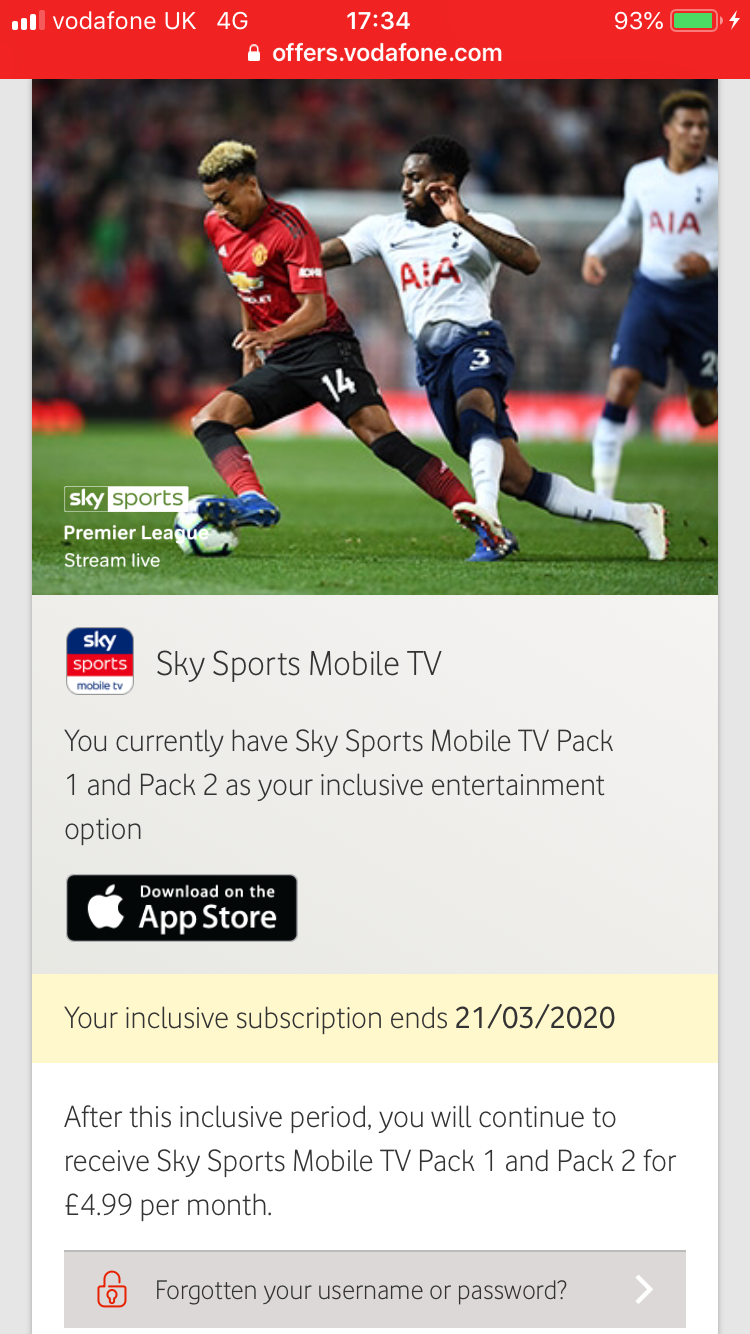 Solved: Sky sports mobile tv app not working - Community home