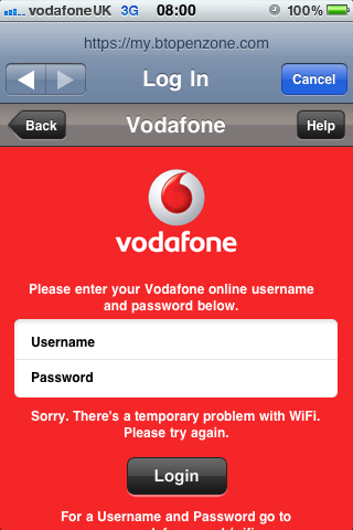 how to connect to bt wifi with vodafone