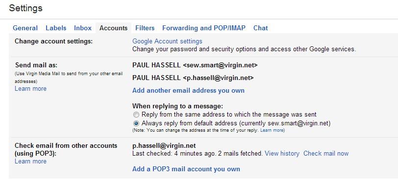 Virgin media email addresses not