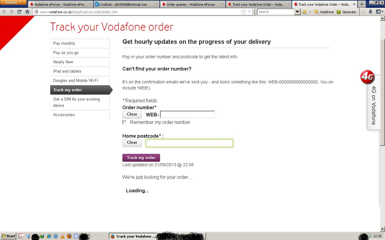 solved track your vodafone order page doesn t work community home